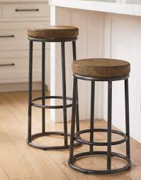 Designer Kitchen Stools by Furniture Freestanding Round Wood Padded For Backless Bar Stool