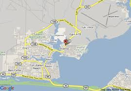eglin afb map map of fairfield inn fort walton eglin afb shalimar