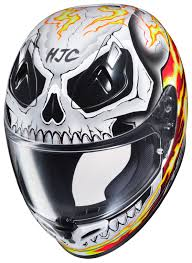 hjc motocross helmet hjc fg 17 ghost rider helmet cycle gear
