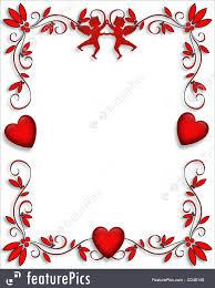 holidays valentine hearts and cupids border stock illustration