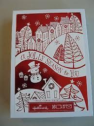 hallmark boxed lot of 16 cards snowman nib cxfr