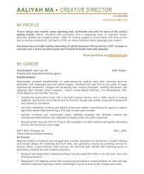 Sample Profiles For Resumes by Creative Director Free Resume Samples Blue Sky Resumes