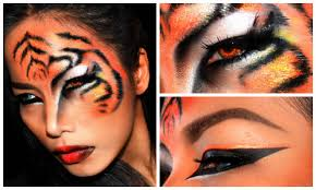 leopard halloween makeup ideas tiger u0027 u0027 halloween makeup look youtube
