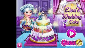 frozen games elsa u0027s wedding cake cooking game video dailymotion