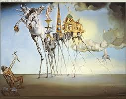 the temptation of st anthony salvador dali http