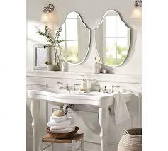 Pottery Barn Mirrored Vanity Bathroom Metropolitan Mirror With Shelf Pottery Barn Mirrors