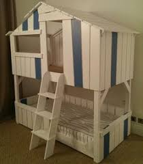 Hand Made Bunk Beds by Pottery Barn Tree House Bunk Bed Wicked Cool House Pinterest