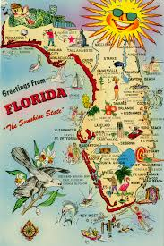 map with attractions florida memory map of florida pointing out various tourist