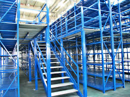 long span pallet rack mezzanine catwalk systems with adjustable