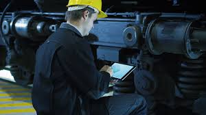 Cad Technician Technician In Hard Hat Using Cad Application On Tablet Stock Video