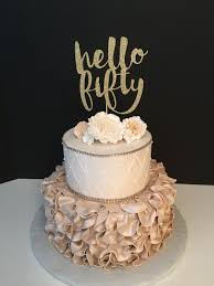 50th cake topper any number hello fifty cake topper 50th birthday cake