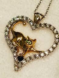 gold cat pendant necklace images Purrtalk jpg