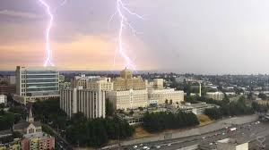 E C Hughes Park West Seattle Parks by Lightning Strikes Heavy Rain As Summer Storm Moves Through Area