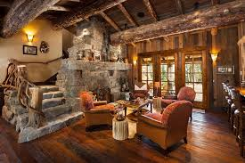 log homes interiors west inspired luxury rustic log cabin in big sky montana