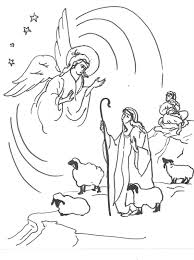 free coloring pages of sheep and shepherd coloring page