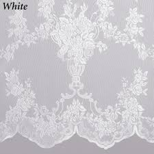 Lace Curtains And Valances Easy Style Carly Lace Curtain Panel With Attached Valance