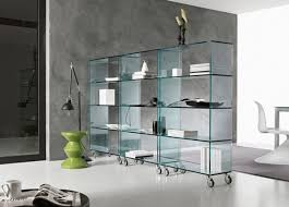 elegant glass libreria bookcase tonelli