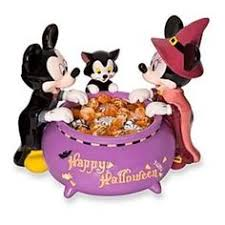 disney mickey mouse halloween candy dish mickey minnie figaro the