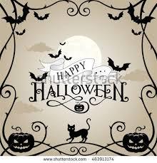 halloween frame on gray sky background stock vector 483913174