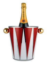 porte seau a champagne sur pied seau à champagne circus h 23 cm métal blanc u0026 rouge poignées