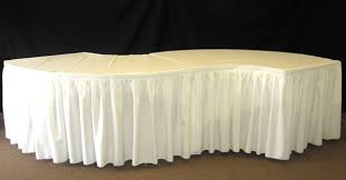 can you put a rectangle tablecloth on a round table how to cover a serpentine table national event supply
