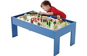 wooden train set table chad valley wooden table and 90 piece train set amazon co uk toys