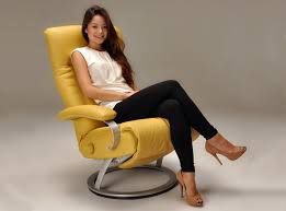kiri modern leather recliner chair by lafer