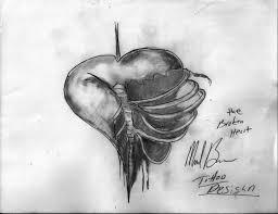 38 best broken heart tattoo designs drawings images on pinterest
