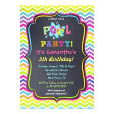 pool party invitations pool party invitations announcements zazzle