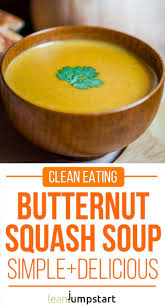 clean butternut squash soup with coconut easy thanksgiving