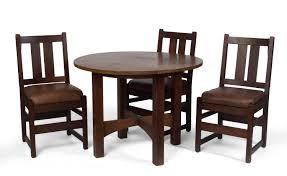 stickley dining room table arts u0026 crafts oak circular table gustav stickley eastwood new