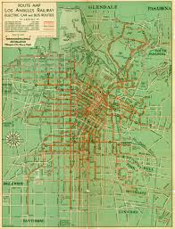 Sierra High Route Map by Rare 1938 Rail And Bus Route Street Map Of Los Angeles California