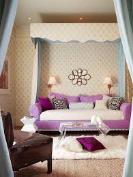 bedroom beautiful teenage bedroom decor ideas with purple sofa