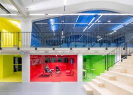bureau urbanisme des bureaux multicolores à rotterdam conseils déco