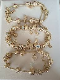 charm bracelet charms gold images Tendance bracelets pandora gold bracelet and gold charms talent jpg