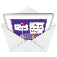 wine love cartoon funny birthday card