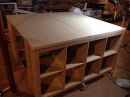 counter height table ikea craft sewing work table hack ikea hackers totally awesome and