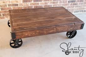 Diy Coffee Tables Diy Factory Cart Coffee Table Shanty 2 Chic