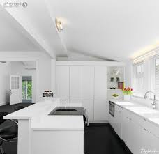 Floor To Ceiling Cabinets For Kitchen Modern Minimalist Kitchen With White Cabinet Kitchen And