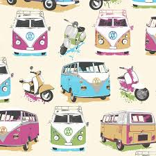 muriva camper van moped scooter heavy weight wallpaper muriva camper van moped scooter heavy weight wallpaper wallcovering multi coloured j05901 amazon co uk diy tools