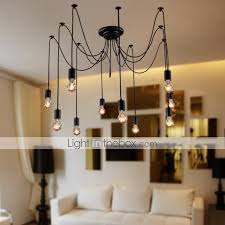 Chandelier With Edison Bulbs Vintage Chandelier For Living Room Bedroom Kitchen Dining Room