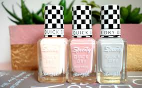barry m speedy nail varnishes summer colours