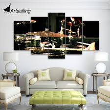 aliexpress com buy 5 pieces canvas paintings printed drummms