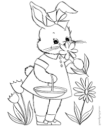 cute bunny printable rabbit coloring pages kids