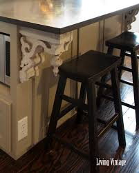 Corbel For Granite Overhang Kitchen Amazing L Shape Kitchen Decoration Using Small White Wood