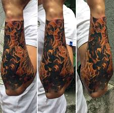 forearm fblue flame tattoos for men u2026 pinteres u2026