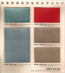 the 1970 hamtramck registry 1964 dodge color u0026 trim book