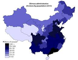 China Population Density Map by List Of Chinese Administrative Divisions By Population Wikipedia