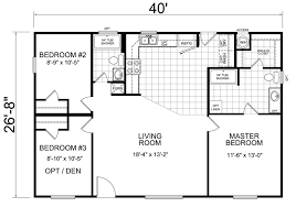 free house floor plans 40x27 floor plan a home house cabin and