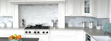 Marble Tile Kitchen Backsplash Fabulous Kitchen White Marble Subway Backsplash Tile On